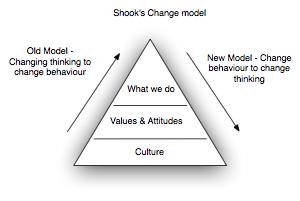 Change models: Shook, Schein, Dreyfus and Constructivism